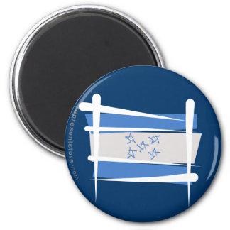 Honduras Brush Flag Fridge Magnet