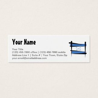 Honduras Brush Flag Mini Business Card