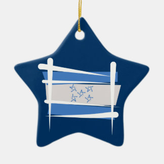 Honduras Brush Flag Ornaments