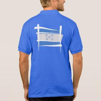 Honduras Brush Flag Polo Shirt
