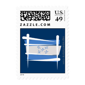 Honduras Brush Flag Postage Stamp