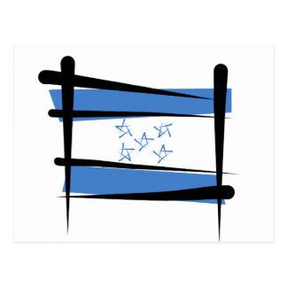 Honduras Brush Flag Postcard