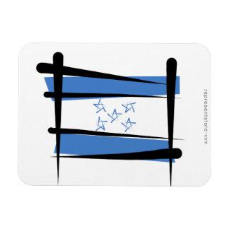 Honduras Brush Flag Flexible Magnets