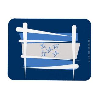 Honduras Brush Flag Rectangle Magnets