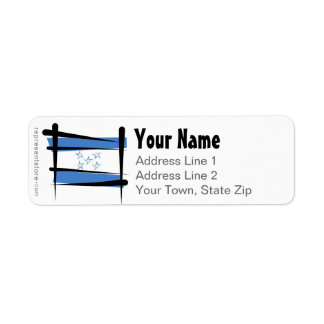 Honduras Brush Flag Return Address Label