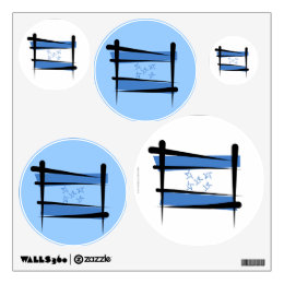 Honduras Brush Flag Wall Sticker