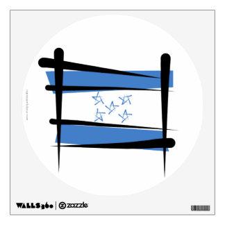 Honduras Brush Flag Wall Stickers