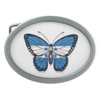 Honduras Butterfly Flag Belt Buckle