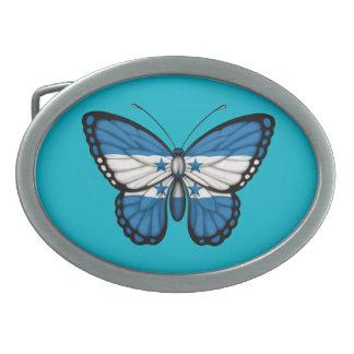 Honduras Butterfly Flag Oval Belt Buckles