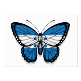 Honduras Butterfly Flag Business Card