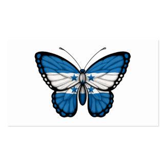 Honduras Butterfly Flag Business Card Template