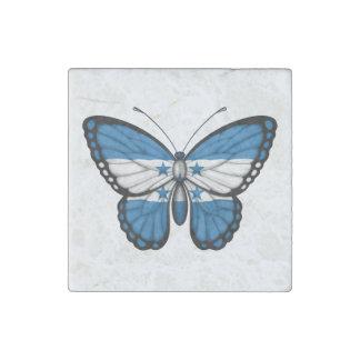 Honduras Butterfly Flag Stone Magnet