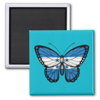 Honduras Butterfly Flag Refrigerator Magnet