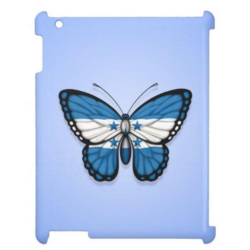 Honduras Butterfly Flag on Blue iPad Case