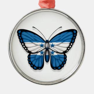 Honduras Butterfly Flag Christmas Tree Ornament