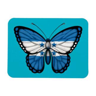 Honduras Butterfly Flag Rectangular Magnets