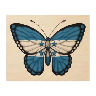 Honduras Butterfly Flag Wood Canvas