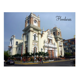 honduras cathedral postcard