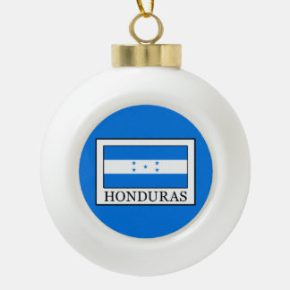 Honduras Ceramic Ball Christmas Ornament