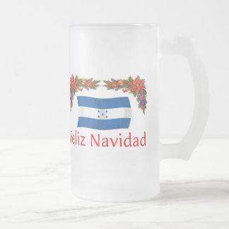Honduras Christmas 16 Oz Frosted Glass Beer Mug