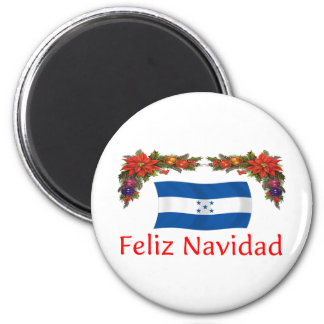 Honduras Christmas 2 Inch Round Magnet
