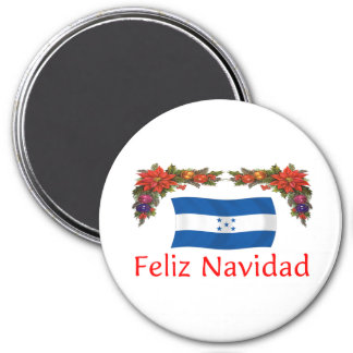 Honduras Christmas 3 Inch Round Magnet