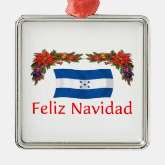 Honduras Christmas Square Metal Christmas Ornament