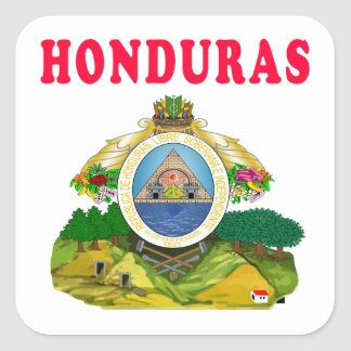 Honduras Coat Of Arms Designs Square Sticker