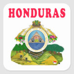 Honduras Coat Of Arms Designs Square Stickers