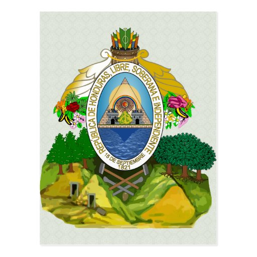 Honduras Coat of Arms detail Post Card
