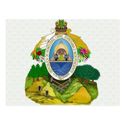 Honduras Coat of Arms detail Postcard