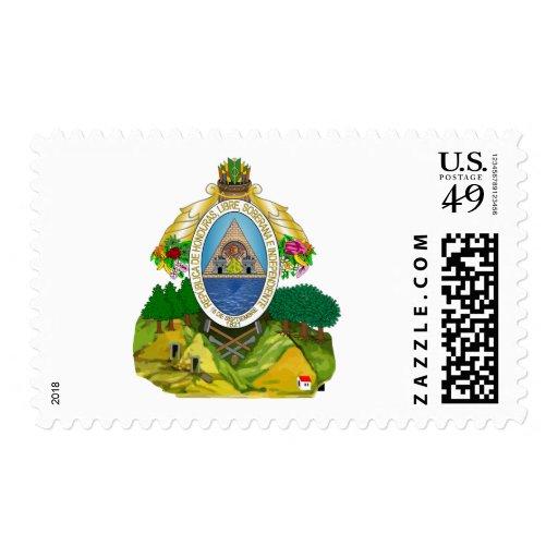 Honduras coat of arms postage stamp