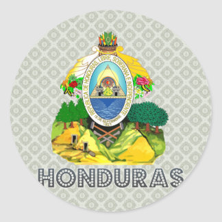 Honduras Coat of Arms Classic Round Sticker