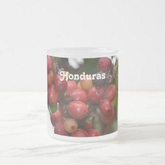 Honduras Coffee Beans Frosted Glass Coffee Mug