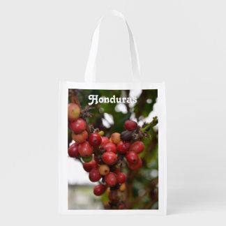 Honduras Coffee Beans Reusable Grocery Bag