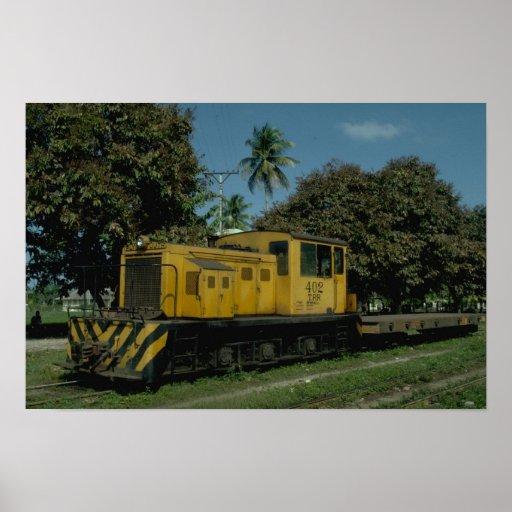Honduras, diesel tele del RR Plymouth Póster