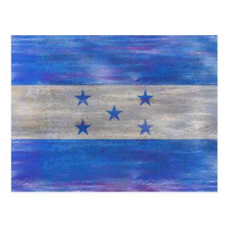 Honduras distressed flag postcard
