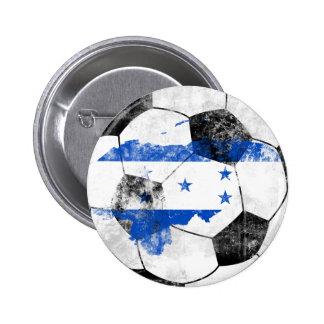 Honduras Distressed Soccer 2 Inch Round Button