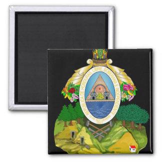 honduras emblem 2 inch square magnet