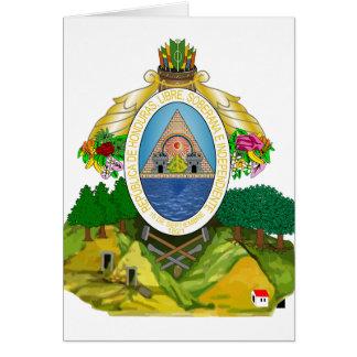 honduras emblem greeting card