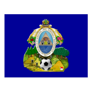 Honduras emblem coat of Arms soccer ball gifts Postcard