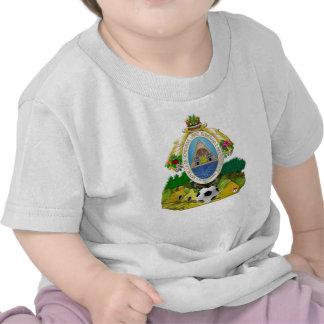 Honduras emblem coat of Arms soccer ball gifts Tee Shirt