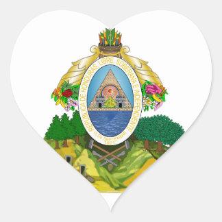 honduras emblem heart sticker