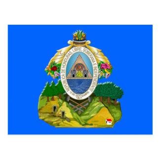 Honduras emblem Honduran coat of Arms Postcard