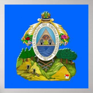 Honduras emblem Honduran coat of Arms Posters