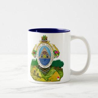 Honduras emblem Honduran coat of Arms Two-Tone Coffee Mug