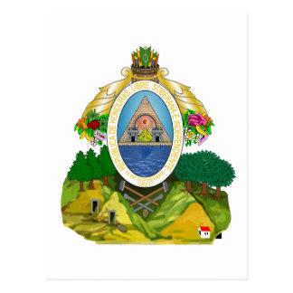 honduras emblem postcard