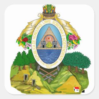 honduras emblem square sticker