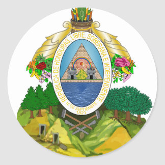 honduras emblem classic round sticker