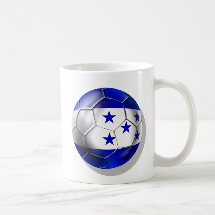 Honduras flag 5 star soccer ball futbol fans gifts coffee mug